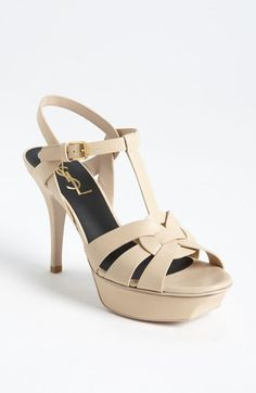 Classic and lovely: Saint Laurent Tribute Sandal | Nordstrom