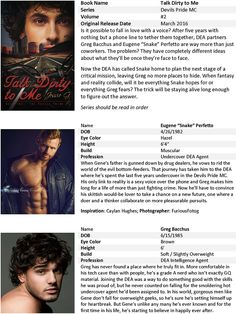 Talk Dirty to Me by Jessie G - Promo Sheet