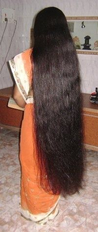 Indian women are known for their long, healthy hair