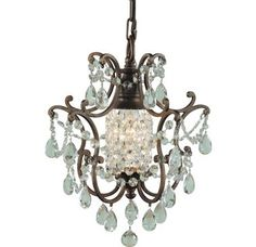 Murray Feiss MF F1879/1 Crystal Foyer Pendant from the Maison de Ville Collection $199.99