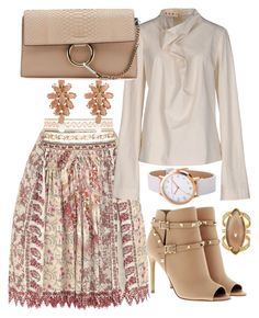 """""""Summer Chic"""" by cpearlz on Polyvore featuring Etro, Marni, Valentino, Henri Bendel, Chloé, gold, pastels, outfitideas, StreetChic and ladylikestyle"""