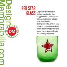 Red Star Glass designed by Federica Marangoni // #DesignMemorabilia #Italy #kichen #kitchenware #home #homedecor #shop #gift #creative #design #RedStarGlass #Drinks #FedericaMarangoni