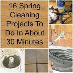 16 Spring Cleaning Projects To Do In About 30 Minutes (cleaning hacks) Household Cleaning Tips, House Cleaning Tips, Cleaning Hacks, Grout Cleaning, Cleaning Recipes, Spring Cleaning Tips, Cleaning Items, Cleaning Checklist, Cleaning Services