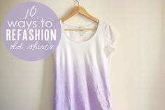 10 awesome ways to refashion old t-shirts from Babble.com    http://blogs.babble.com/the-new-home-ec/2012/09/04/refashioning/?utm_source=facebook.com_campaign=babbleeditors_medium=referral_content=Organic-Post:Image#