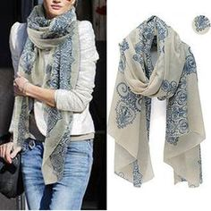 NEW FREE Chiffon Women Ladies Scarf Neck Shawl Scarf Scarves Wrap Stole Warm