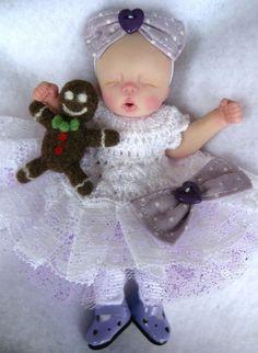 Ooak baby girl , Sugar Plum, 4.75 ,  jointed full sculpt, Artist Original Sculpt   eBay