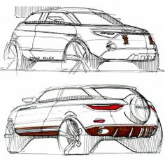 Range Rover Evoque - Exterior Leather Design Sketch by Pierre Andlauer