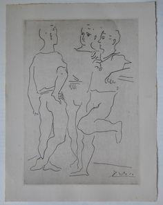 PABLO PICASSO Commes les Jacinthes aus Grace et mouvement 1943 signiert i. Dr.