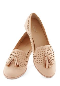 Over and Understated Flat - Low, Faux Leather, Pink, Solid, Tassles, Work, Casual, Weekend, Good, Pastel