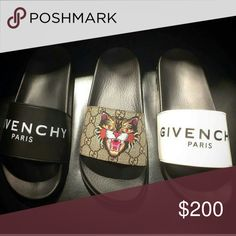 278106045f9c45 Gucci Givenchy Slides 2017 SALE Bundle Deals or separate Many sizes  available Text for sizing and men s and women s Gucci Shoes Sandals    Flip-Flops