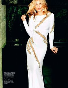 Kate Moss in Vogue Paris October 2012. I want that Emilio Pucci dress badly