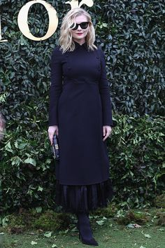 Kirsten Dunst attends the Christian Dior Haute Couture Spring Summer 2017 show as part of Paris Fashion Week at Musee Rodin on January 23 2017 in...