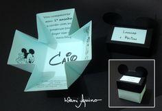 Convite Caixa :: Tema Mickey
