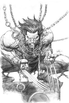 Wolverine in chains by Leinil Francis Yu