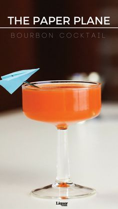 A riff on The Last Word cocktail, the Paper Plane is pleasantly easy to remember thanks to its equal parts. With bourbon, Aperol, and more, you can't go wrong with this beautiful and delicious drink.