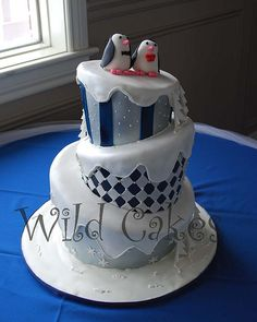 winter wedding cake view 2 | Flickr - Photo Sharing!