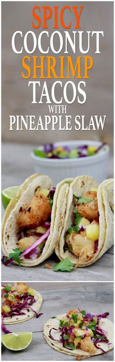 These spicy coconut shrimp tacos with pineapple slaw sound and look delicious! Perfect for a summer weeknight dinner.  #CreateWithOil #ad