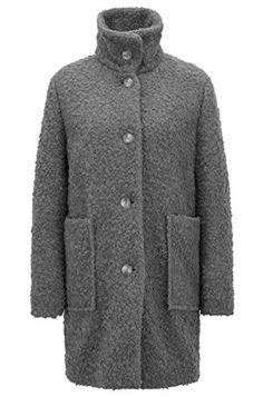 Damen Kunstpelz Fleece Frauen Revers FRAUIT Lederjacke j5RLA43