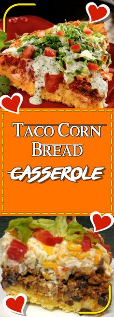 Taco Corn Bread Casserole Via #yummymommiesnet #dinnerrecipes dinner recipes #recipeoftheday recipe of the day #recipe recipe #dinnertime dinner time #easydinner easy dinner recipes for family #dinner dinner