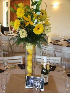 Yellow Flower, Eco Craft Ideas for Floral Table Decoration