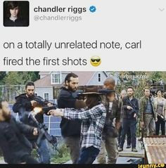 """Chandler's tweet. The Walking Dead S07 E16 """"The First Day of the Rest of Your Life."""" Season 7 Episode 16. #twd"""
