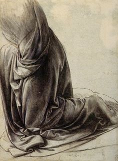 Leonardo Da Vinci I Drapery study                              …