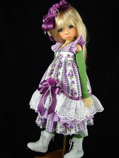 Dress fits Kaye Wiggs,Dollstown, MSD, BJD.6 pc.  Little Charmers Doll Designs #DollClothingAccessories  by Little Charmers Doll Designs