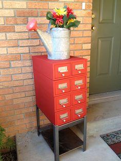 very unique repurposed vintage industrial hamilton library index ...