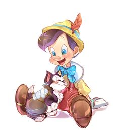 """""""I've Got No Strings To Hold Me Down!"""" #Disney #Cute #Pinocchio"""