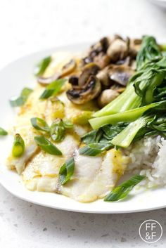 Easy meal of Oven Roasted Tilapia, Bok Choy and Mushrooms that can be made in just 15 minutes using less than 10 ingredients. This recipe is allergy friendly (gluten, dairy, shellfish, nut, egg, and soy free) and suits the paleo diet.
