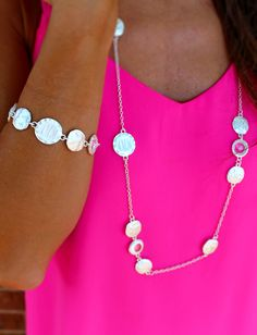 This Santorini set is so gorgeous and goes with any outfit, casual and dressy!