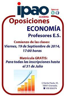 Preparación de las oposiciones de Economía