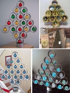 arbol de navidad con latas de atún