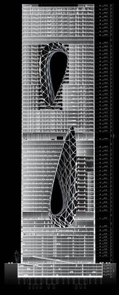 Sunrise Tower - © Zaha Hadid Architects :: Kuala Lumpur, Malaysia