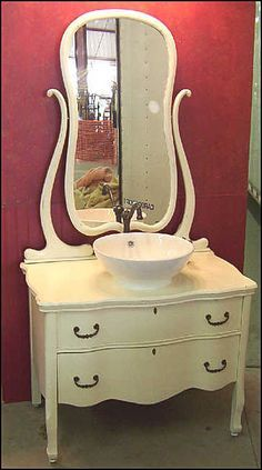 converting furniture to vanities - Google Search