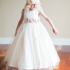 cotton silk and tulle flower girl dress by gilly gray | notonthehighstreet.com