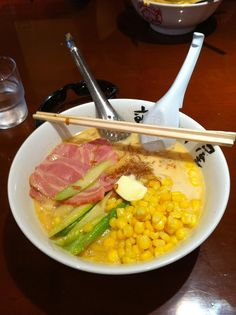 My favorite! Number 5 milk ramen in Yokosuka, Japan I really need to learn the recipe <3 <3