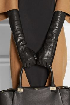 Lanvin's butter-soft leather gloves are a must-have for cold weather. / Long leather gloves are going to be my new accessory for this fall/winter!