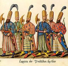 Peiks (Ottoman messengers), originally, messengers or postal runners. They were fast athletic runners and could travel great distances without rest. It took them, for example, two days to get from Edirne to Istanbul on foot. They carried a hanjar (Hancer) - dagger in their girdles, a halberd in their right hands and a handkerchief full of sugar in their left. One of their tasks was to inform the Sultan when the pilgrims had returned from Mecca. The post was abolished in 1828.