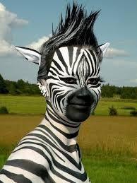 Image result for zebra halloween makeup adult