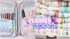 My Planner Supplies Storage! (Travel Case + At Home)