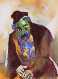 The old Jew, 1912 Marc Chagall