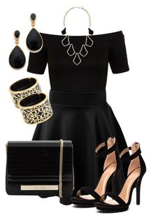 """""""All Black Tag"""" by peaceluvhap ❤ liked on Polyvore"""