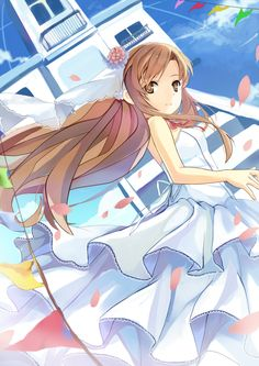 Asuna--wedding gown Now I've got another inspiration for my future wedding gown design <3