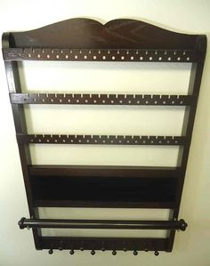 Deluxe Jewelry Holder Organizer Cocoa Brown Oak