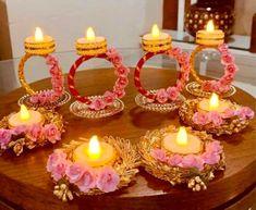 Diya Decoration Ideas, Diwali Decoration Items, Diwali Decorations At Home, Festival Decorations, Decoration Party, Christmas Party Decorations, Room Decorations, Diwali Diy, Diwali Craft