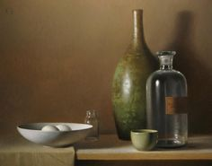 """Two Eggs"" oil/canvas by David Gray"