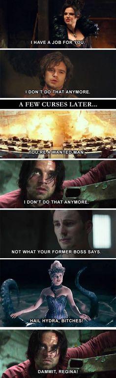Once Upon a Time, Regina, Jefferson | Avengers, Captain America, Steve Rogers…