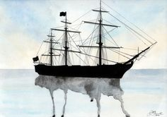 HMS Victory Watercolour Art Print- if I were gutsy enough I would have this tattooed on my back.