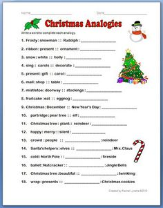 Christmas Analogies - Re-pinned by @PediaStaff – Please Visit http://ht.ly/63sNt for all our pediatric therapy pins